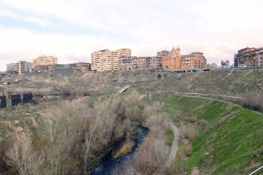 Blick auf eine armenische Kleinstadt