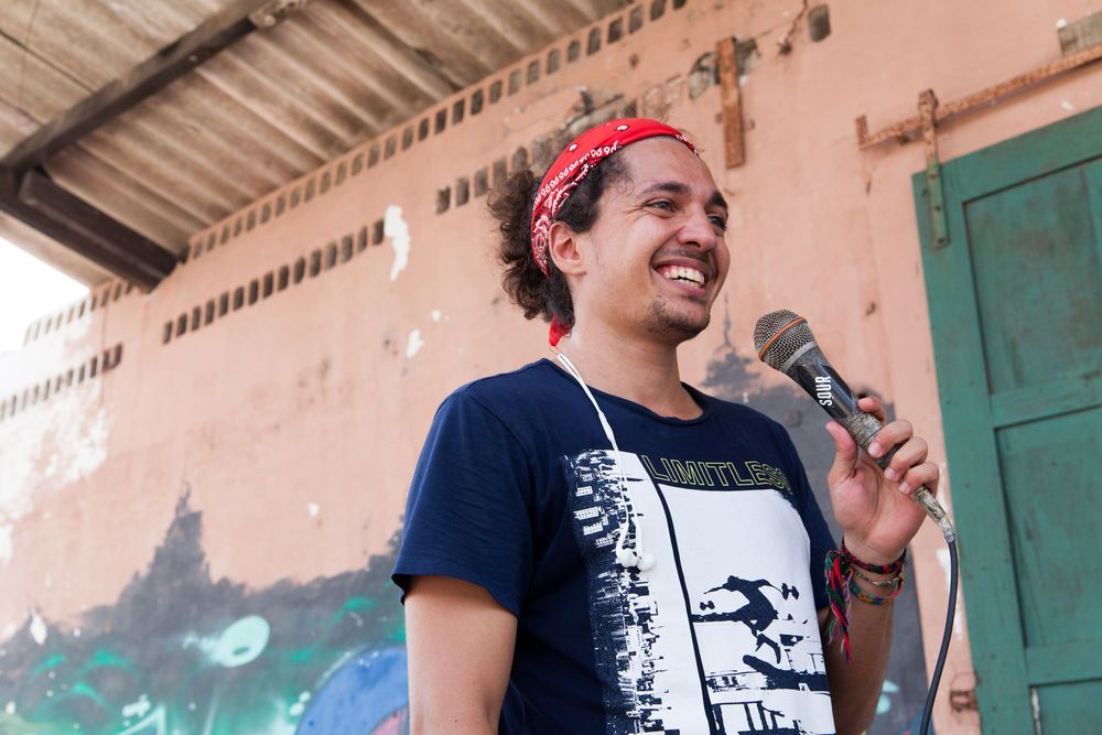 Guatemala: Puerto Quetzal, Guatemala :: Heber Marcos (Brazil) shares his personal story at Motivo Urbano, a nonprofit that uses skateboarding as a tool to connect with children and young people. More Info