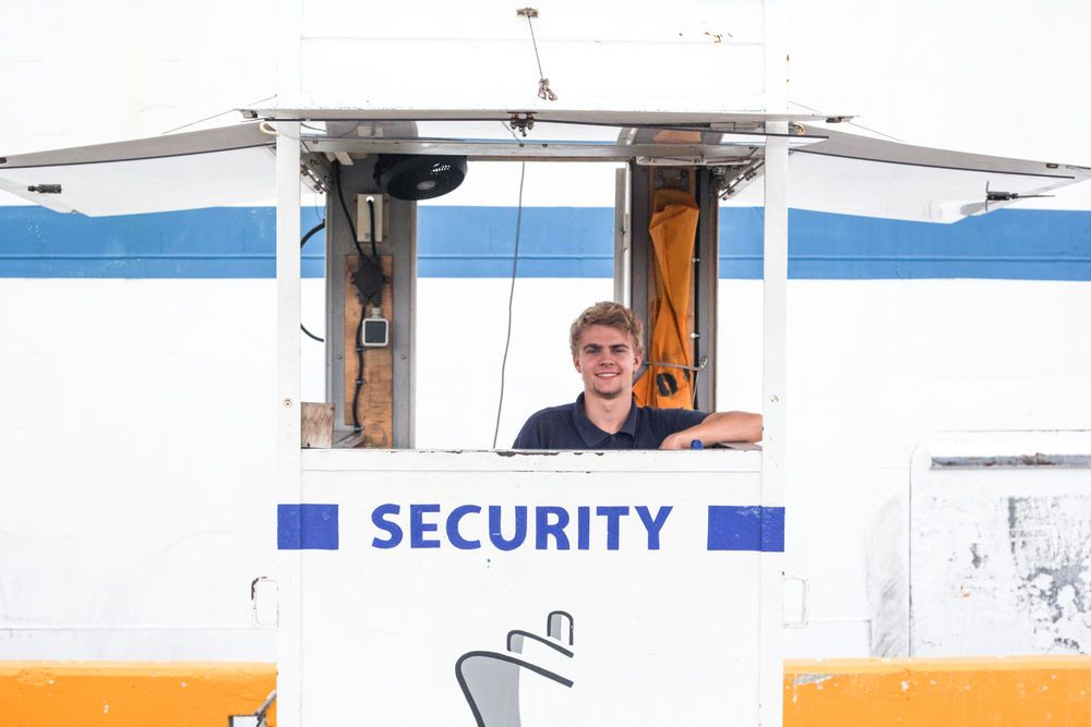Ecuador: Guayaquil, Ecuador :: Liam Packwood (UK) keeps Logos Hope safe and secure by monitoring who enters and exits the ship. More Info