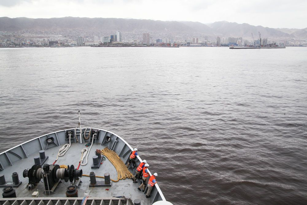 Chile: Antofagasta, Chile :: Logos Hope arrives in port. More Info