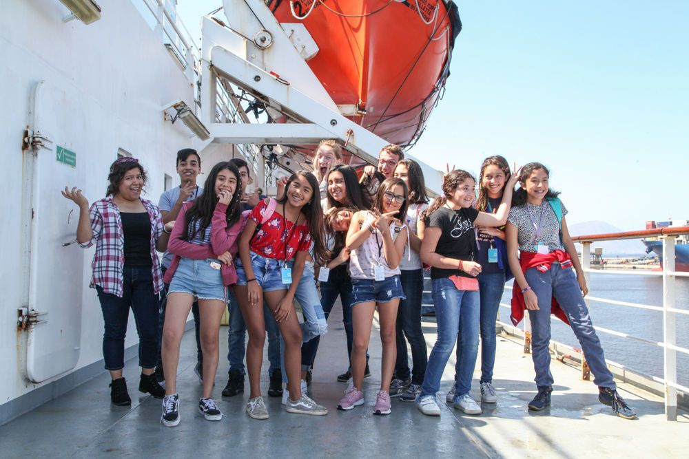 Chile: Antofagasta, Chile :: A group of teenagers experience what it is like to work in different departments on board Logos Hope. More Info