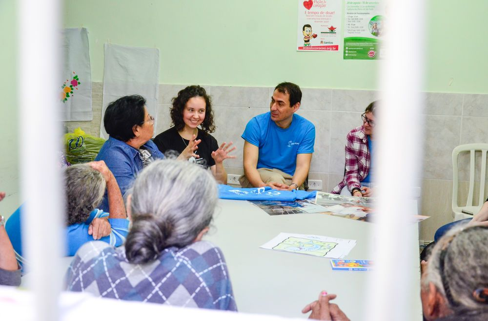 Brazil: Santos, Brazil :: Camila Winter (Argentina) shares her story with a group of women at a cancer centre. More Info