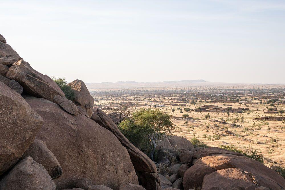 Felsige Landschaft in Nordafrika