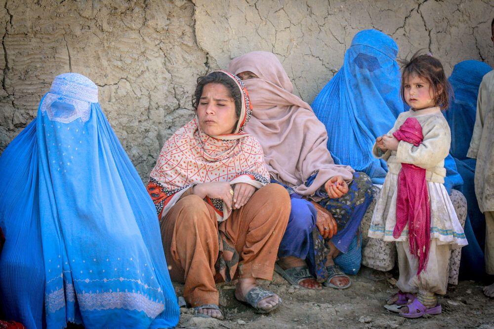 Frauen in Afghanisten mit Kindern. Familie ist wichtig in der afghanischen Kultur.