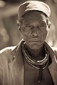 Old tribal man in Namibia
