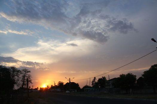 Beautiful sunset in Mocuba