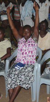 Bernise from Ghana receives healing