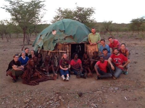 The Africa Trek 2014 # 1 Team among the Himba people, Namibia