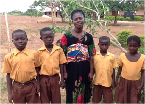 Akua Addae and some of her children