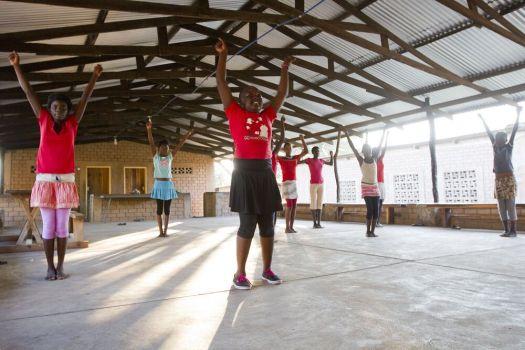 Cheerleading at Lake Tanganyika
