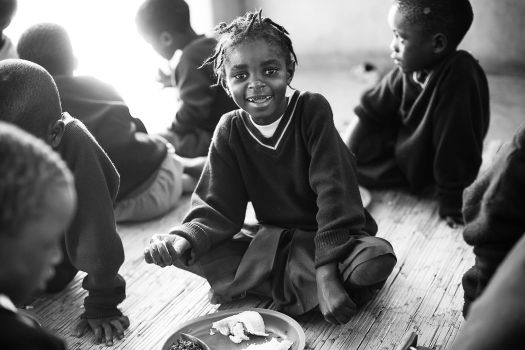Mina - a little girl from Malawi
