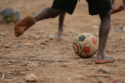 Football at Lake Tanganyika
