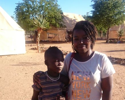 A french lady in Namibia