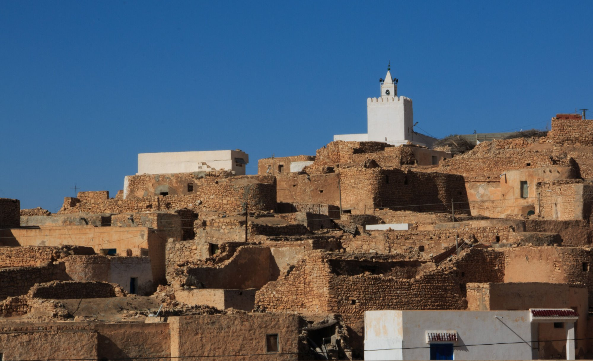 North Africa: Skyline of city highlights the mosque.  Photo by Paul Smith More Info