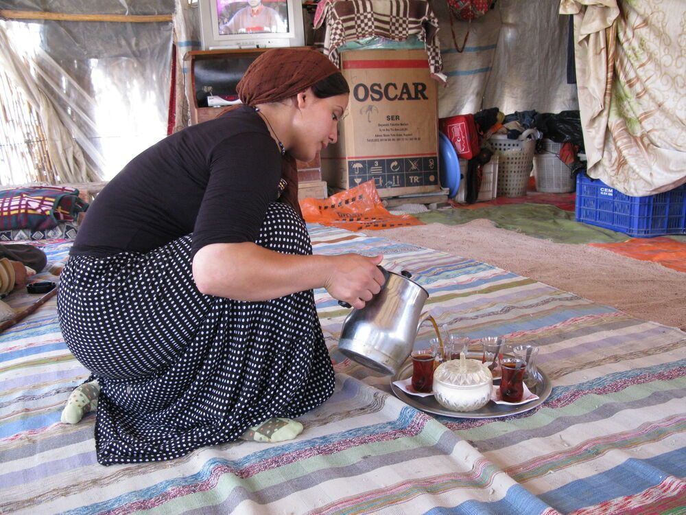 Turkey: Offering tea to visitors is common practice amongst Kurdish peoples in Turkey. More Info