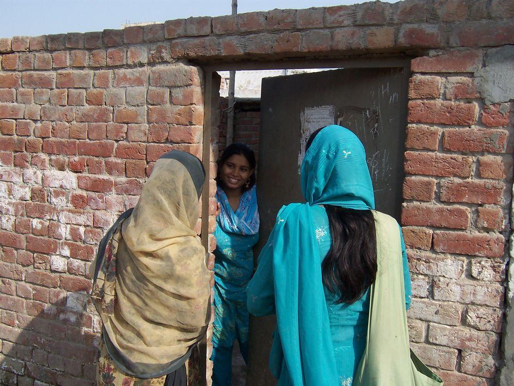 Pakistan: Women on the team visiting a Pakistani village. More Info