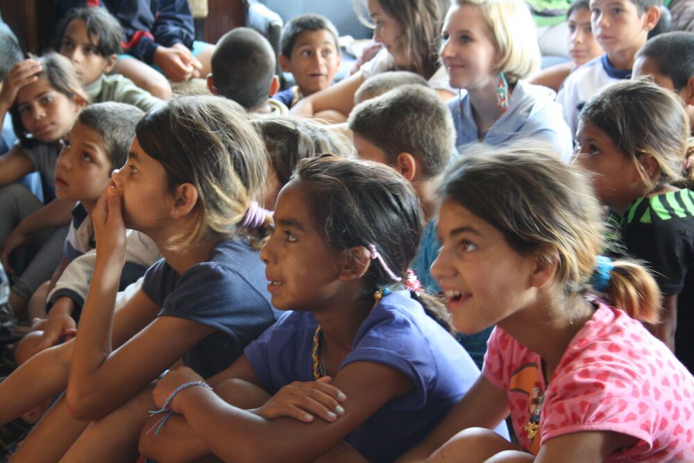 Photo: Bulgarian gypsy children at summer camp - OM