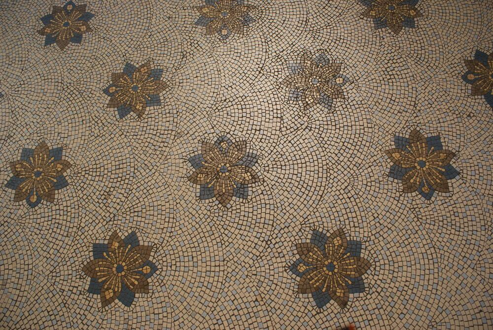 Argentina: Mosaic floor in a church in Buenos Aires, Argentina. More Info