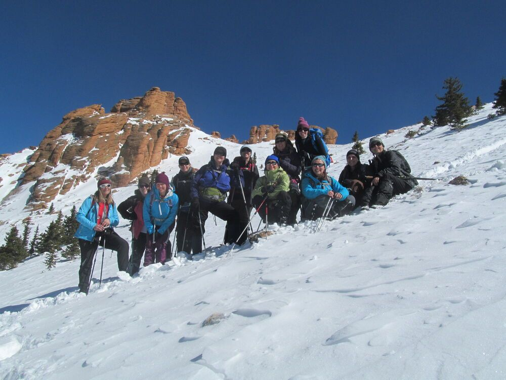 A group of the North American women participating in the Freedom Climb in April climbed Pikes Peak in Colorado, US, during the practice weekend in September 2012.