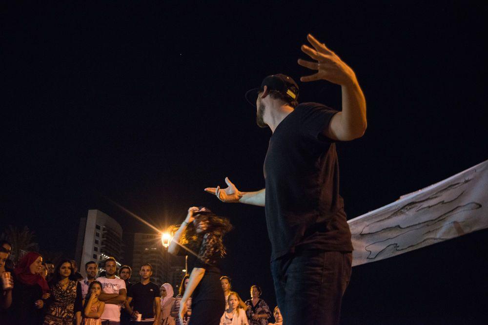 Turkey: TACO dance team draws a crowd during the outreach.   Photo by Garrett Nasrallah  More Info