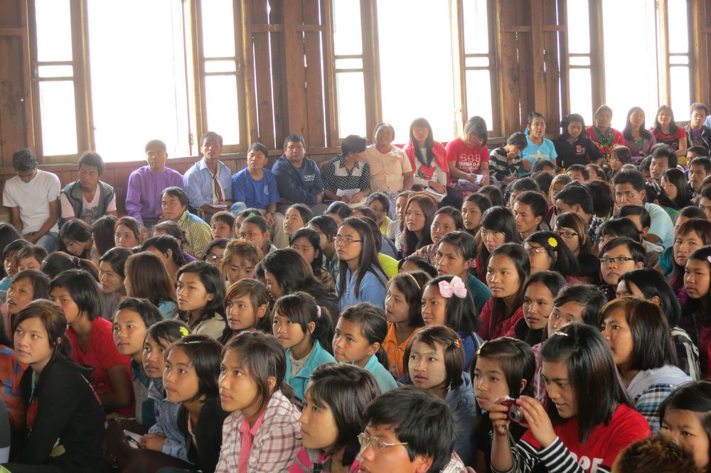 Myanmar: Young Burmese listen attentively at OM Myanmar's Community Development and Leadership Training Centre. Lives are being changed eternally. More Info