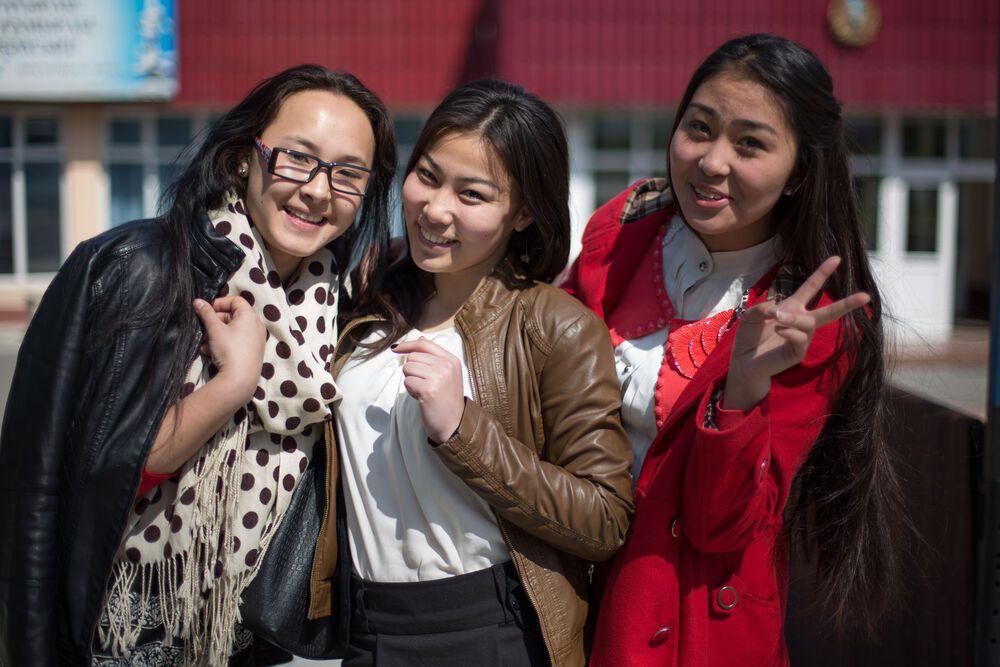 Central Asia: Schoolgirls in Kazakhstan More Info