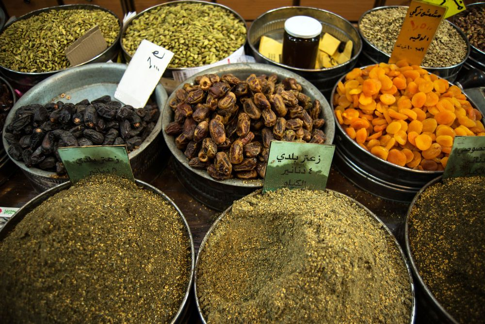 Near East: Local markets provide access to spice, beans, nuts and dried fruit.  
