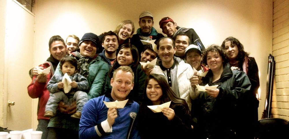 Chile: Wand volunteers of OM Chile´s Agape Ministry together with the homeless people in the day centre in Santiago. More Info