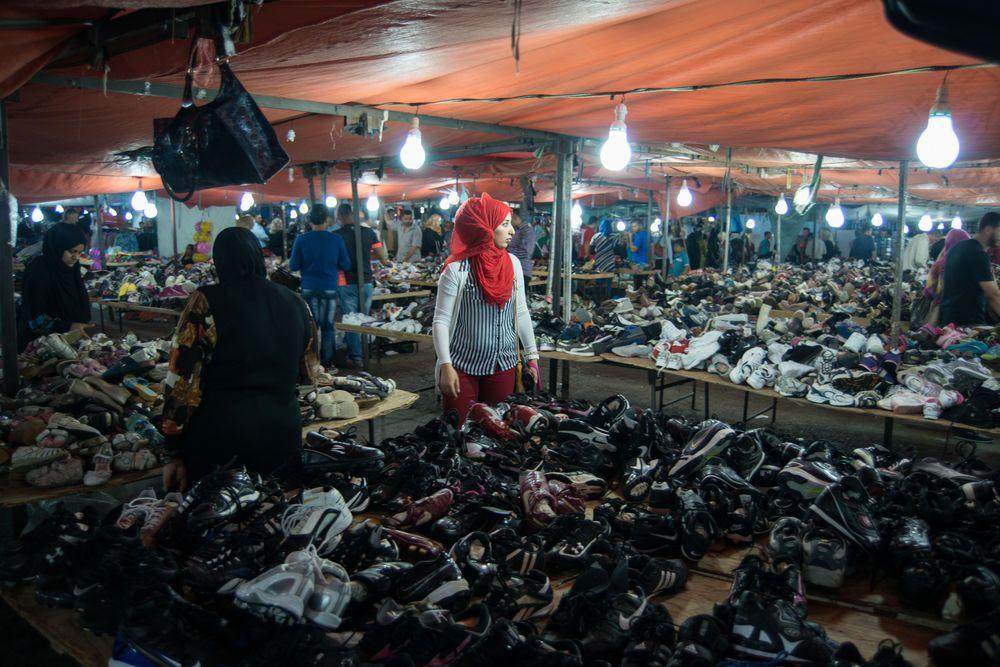 Near East: The market fills the street in Jordan. Photo by Garrett Nasrallah More Info