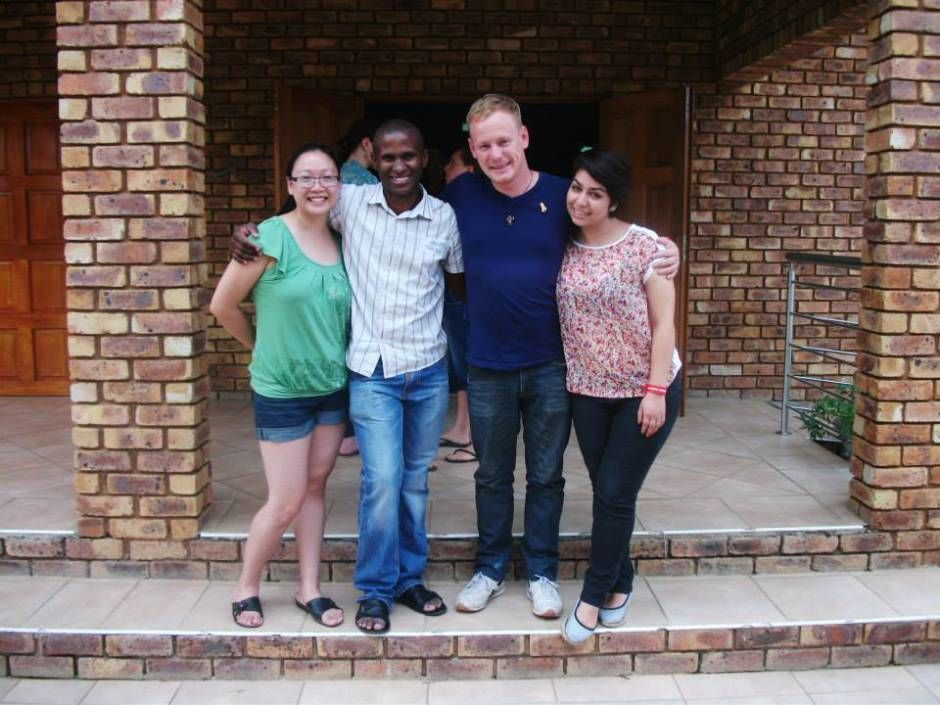 Natli and her husband Roel in the AIDSLink training in South Africa.