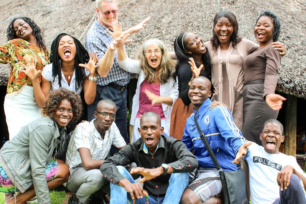 A group of Angolans that graduated from their Leadership Training Program.