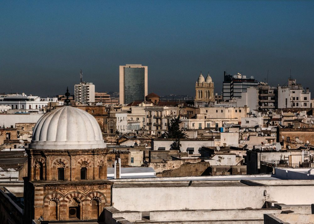 North Africa: Rooftops of urban North Africa.   Photo by Paul Smith More Info