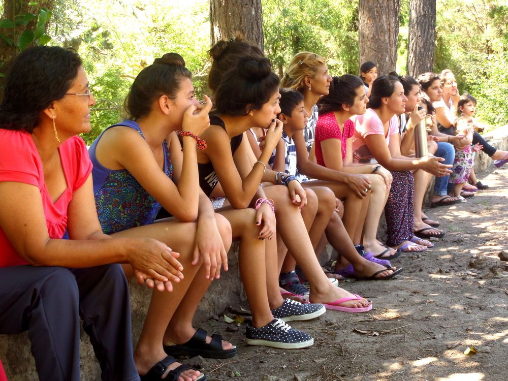 Argentina: Ladies listening to a lecture. Many participants accept Jesus as their Saviour during a three-day camp for ladies in Argentina.  More Info