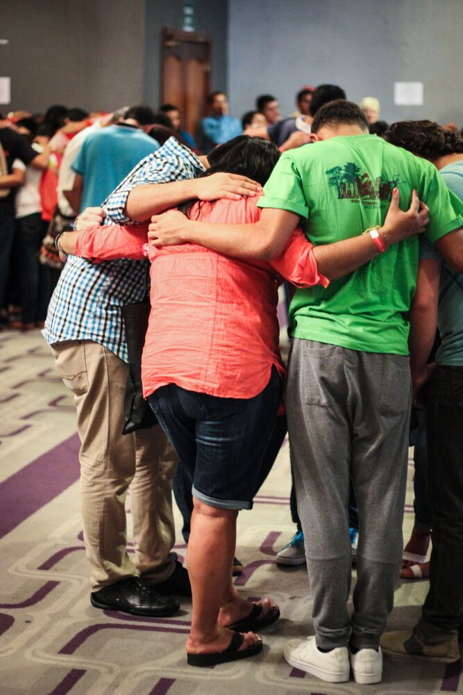 Panama: Participants of an international outreach in Panama are praying together for the week ahead. More Info