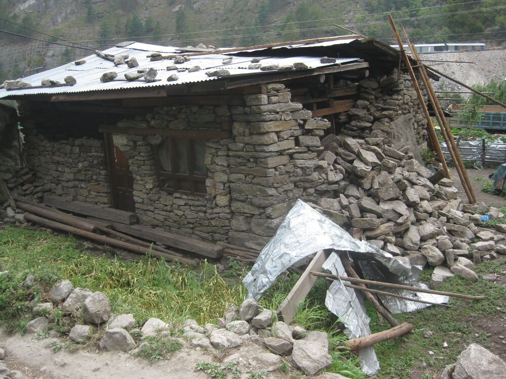 Nepal: a stone home in Rasuwa that collapsed after the 7.8 earthquake that shook Nepal on 25th April. More Info