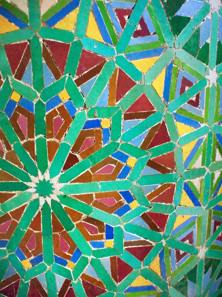 North Africa: Colorful decorative tiles cover the walls of homes and mosques, adding to the colors of North Africa. More Info