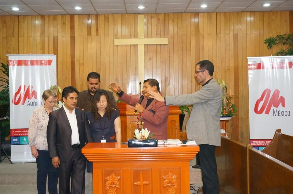 Mexico: Blessing the new OM MEXICO Director (Marco Salas) and his wife (SeRah Kim). More Info