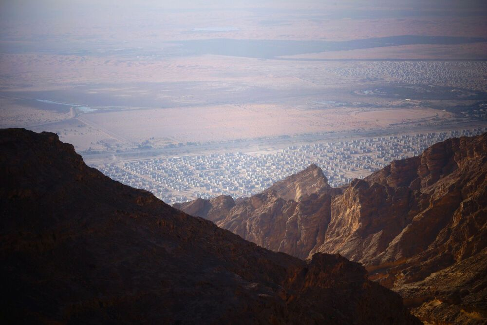 Arabian Peninsula: View from the mountains in the Arabian Peninsula.   Photo by Andrew W. More Info