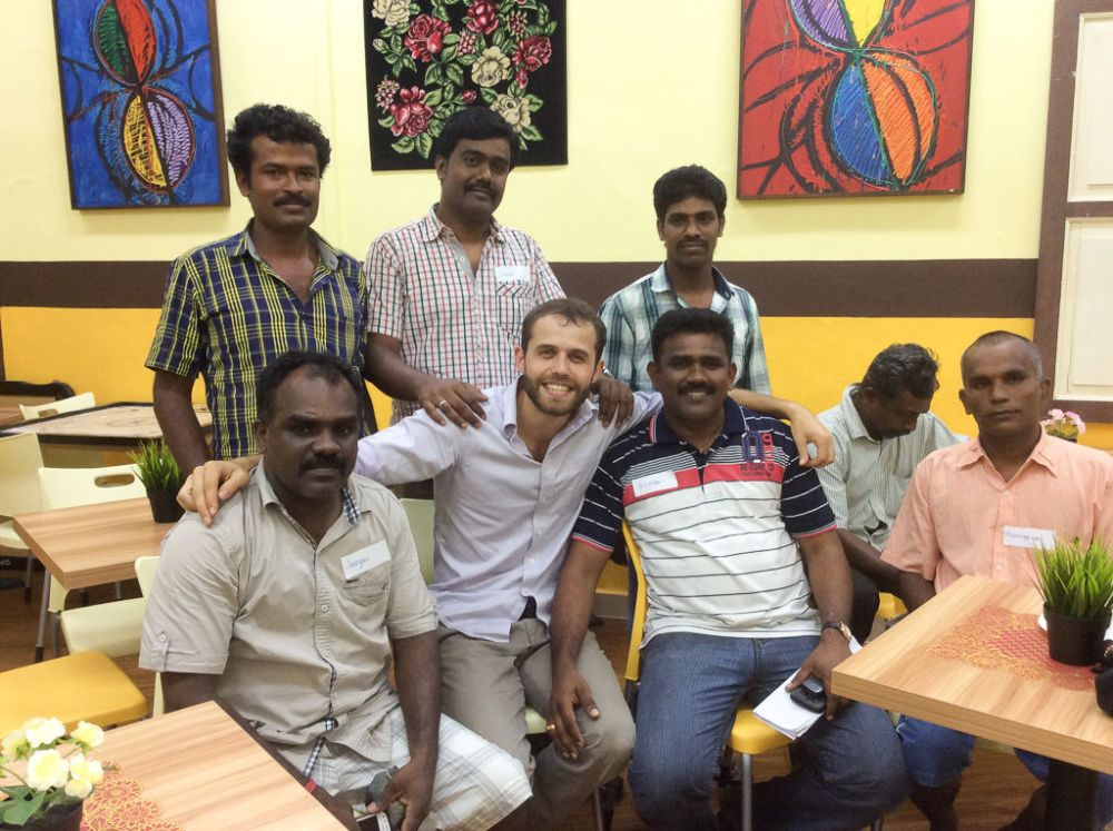 Ships: Singapore :: Gaetan Caro (France) with friends he made during the Power Up Logos Hope project.  More Info