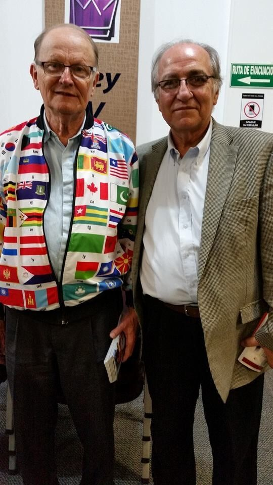 Colombia: OM Founder, George Verwer (L) with OM Colombia representative, Pastore Hugo Echeverri (R) More Info