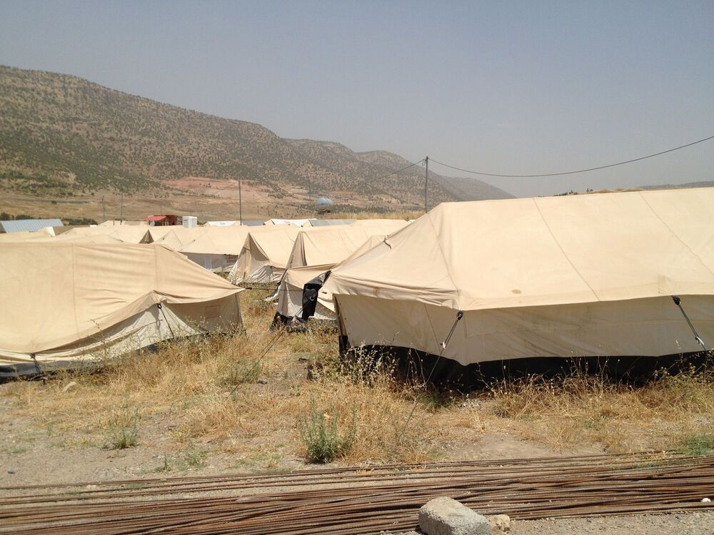 Near East: Internally displaced peoples (IDPs) set up camps in Kurdistan, Northern Iraq.   More Info