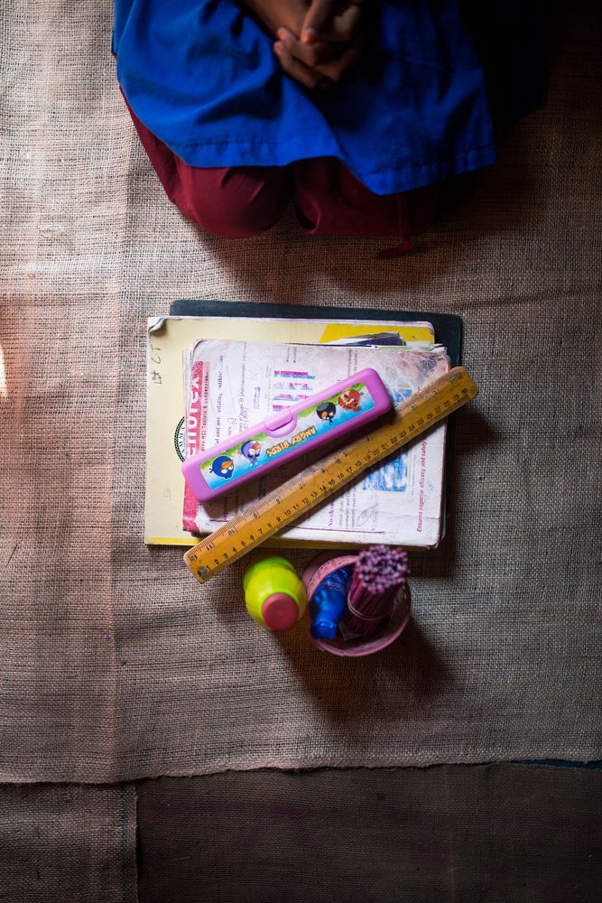 Bangladesh: A childs very own school supplies. The gift of education is changing lives in Bangladesh. More Info