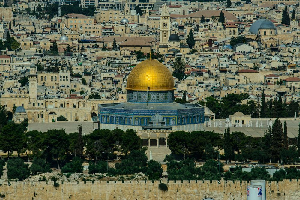 Israel: Visitors come to the old city, the Wailing Wall and the Dome of the Rock.  Photo by Garrett Nasrallah More Info