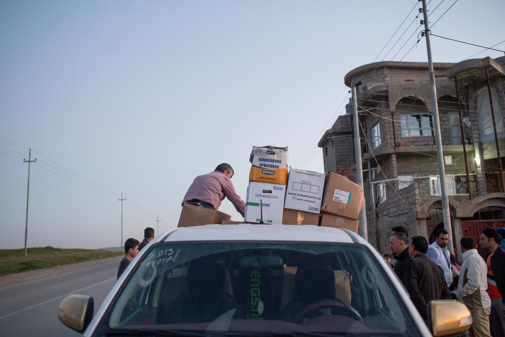 Near East: Aid and Relief among Internally Displace Peoples (IDPs) continues in Kurdistan.   Photo by Justin Lovett More Info