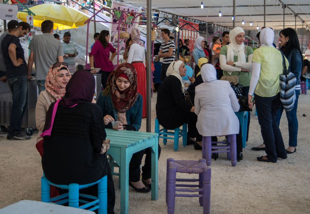 Near East: Women meeting together in the Near East.  