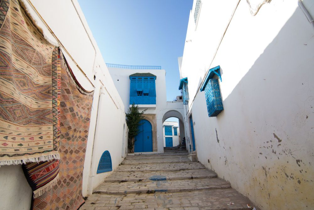 North Africa: Blue painted doors are believed to ward off evil, in the folk traditions of North Africa.  Photo by Andrew W More Info