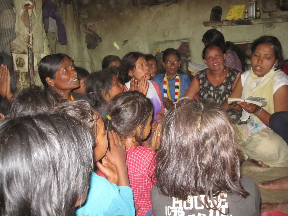 South Asia: An OM Nepal Community Mobilization Team member shares a key Old Testament story to a group as part of their oral bible story ministry in a remote district. More Info