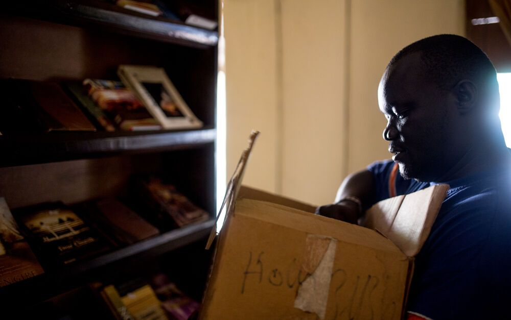 OM?s team in South Sudan is ministering through the Christian bookshop.  