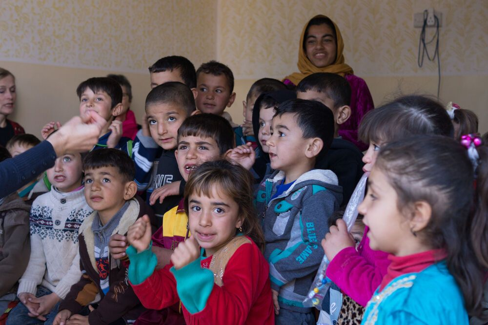 Near East: Children at an OM sponsored school in the Kurdish region.  