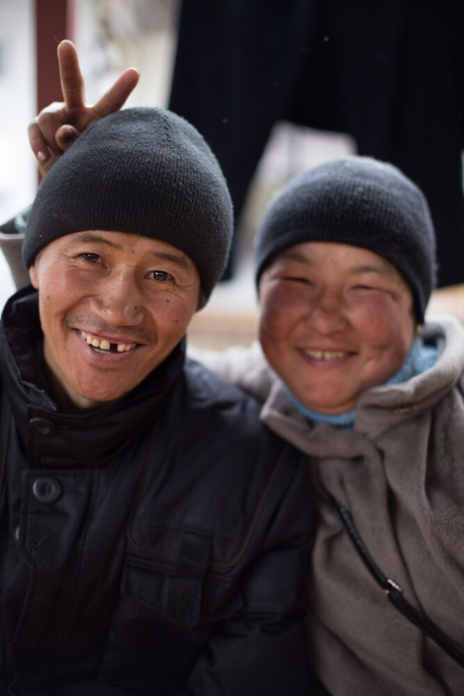 Central Asia: Two smiling men in Bishkek, Kyrgyzstan More Info